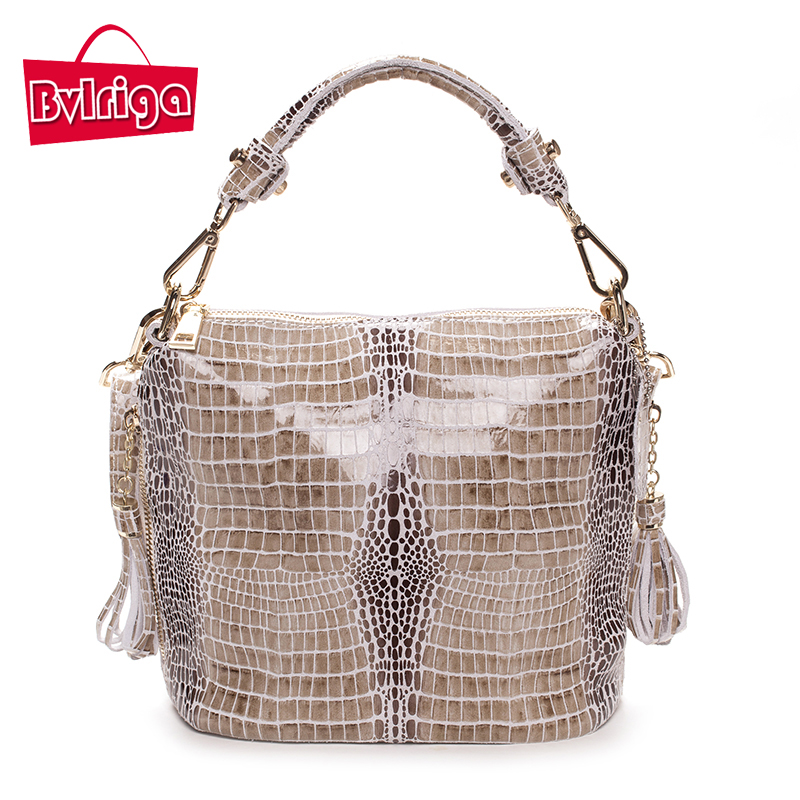 BVLRIGA Genuine leather bags luxury handbags women bags designer serpentine women messenger bags brand women leather handbags<br>