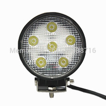1piece best auto led lighting DC10-30V 18w round led work light for agriculture minitary heavy industry 2 year warranty(China)