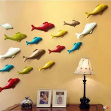 Resin three-dimensional fish, wall stickers, creative crafts