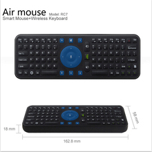RC7 2.4G USB Wireless Mini Qwerty Keyboard air Mouse Combo Gyroscope Air Fly Mouse Remote Keyboard for Android TV Box Mini PC(China)