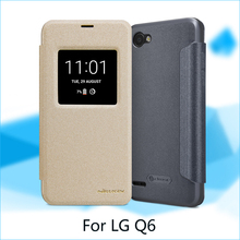 For LG Q6 Case Nillkin Open Window Design Flip PU Leather Cover Case For LG Q6 Cell Phone Cases(China)