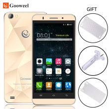 Original Gooweel M5 Pro Mobile Phone MTK6580 Quad core 5 inch IPS Screen Smartphone 5MP+8MP Camera GPS 3G Cell phone Free Gift