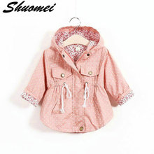 2018 New Spring Baby Clothes Baby Outerwear Infant Cartoon Coat wave printed batwing coat manufacturer wholesale of girls(China)