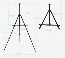 High Quality Plastic Metal Iron Tripod Easel Aluminum Alloy Easel Portable Painting Easel Art Drawing(China)