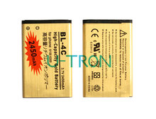 2pcs/lot 2450mAh BL-4C BL4C Gold Replacement Battery For Nokia 2650 5100 5630 6300 6131 6600f 6700S 6260 7210 6702s Batteries