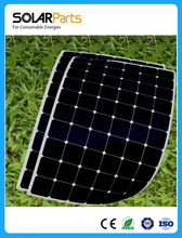 Solarparts 2X 180W flexible solar panel cell system DIY kits 12V for RV/BOAT/HOME front junction box MC4 connector 125*125mm sun(China)