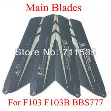 Plastic Main Rotor Blades Propellers Spare Parts For DFD AVATAR 4Ch F103 F103B BBS777 RC Helicopter ( Blade helikopter )