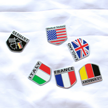 3D Aluminum car Flag sticker accessories For Porsche Cayenne Macan Macan S Panamera Cayman Carrera Porsche911 918 Boxster