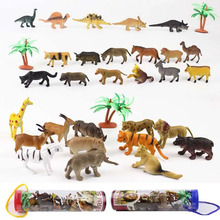 12pcs/lot Dinosaur Animal Toy Set Plastic Play Toys Dinosaur Model Action and Figures Best Gift for Boys(China)