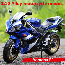 1:10 Alloy motorcycle models ,high simulation metal casting motorcycle toys,Yamaha R1 Road Racing,free shipping