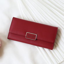 WESTERN AUSPICIOUS Wallet Women Long Style Lady Purse Brand PU Leather Hasp Wallet Female Pink Blue Red Black Gray Purse Quality(China)