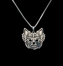 Gold & silver 1pcs Yorkshire Terrier Necklace 3D Cut Out Puppy Dog Lover Pendant Memorial Necklaces Pendants Christmas Gift(China)