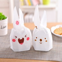 20 pcs/set High Quality Lovely Candy Bags Cookie Plastic Wedding Party Candy Gift Bag Box