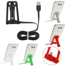 Micro USB Dock Charger Data Cable Holder Stand for Samsung LG Huawei HTC