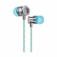 Crystal Shape Perfume In-Ear Earphone With Microphone Music Stereo Earphones Portable For Phones Computers Tablets MP4 MP3(China)