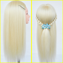 65cm Professional hairdressing dolls head Female Mannequin Hairdressing Training Head Nice Maniqui high quality Mannequin Head(China)