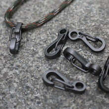10PCS/LOT EDC Keychain Spring Clasps Climbing Carabiners Camping Bottle Hooks Paracord  buckle Accessorie Tactical Survival Gear