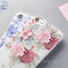 Buy KRY Relief Floral Phone Cases iPhone 7 Case 6 8 Plus iPhone X Cases Flower Soft Cover iPhone 6 6S 5 5S SE Case Capa for $1.29 in AliExpress store