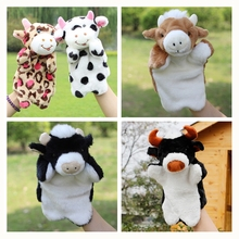 New Arrival Animal Hand Puppet Plush Puppets Cow Bull Bighorn Cattle Dolls Best Gift Toys For Baby Brinquedo Marionetes Fantoche