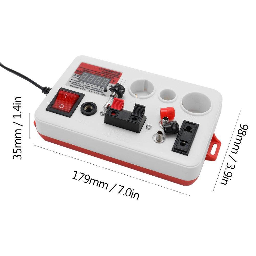 D AAA 1,5 V Probador de bater/ía digital instrumento de medici/ón de bater/ía Medidor de bater/ía con pantalla digital de alta precisi/ón probador de capacidad de bater/ía 18650 para AA C 9 V y botones