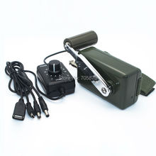 hand crank generator 30W military dynamo phone charger outdoor emergency charger with 0-28V DC converter(China)
