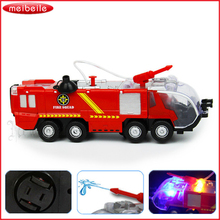 Spray Water Gun Toy Truck Fireman Sam Fire Truck Vehicles Car Music Light Cool Educational Toys for Kids Boys Firetruck Juguetes