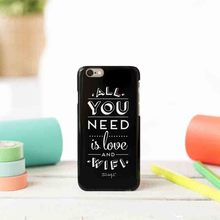 All You Need Is Love And WiFi Funny Black Phone Case For Apple iPhone 4 4S 5C SE 5 5S 6 6S 6Plus 7 7Plus Funda Case