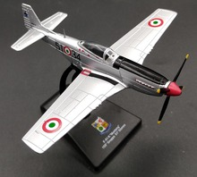 Value rare LEO 1: 100 Italian Air Force American P-51K Mustang Fighter Alloy model Collection model Holiday gifts