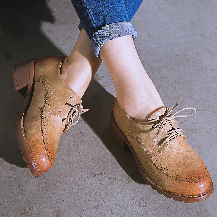 The new 2017 British style  womens shoes restoring  round head causal shoes size 35-43<br><br>Aliexpress