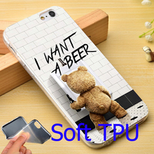 Ted I want a beer TPU Phone Case for iPhone 5S 5 SE 5C 4 4S 6 6S 7 Plus Cover ( Soft TPU / Hard Plastic for Choice )