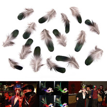 Rooster feathers Mountain feather DIY accessories stage prop festive Party mask clothes carnival Decoration supplies 50pc/100pcS