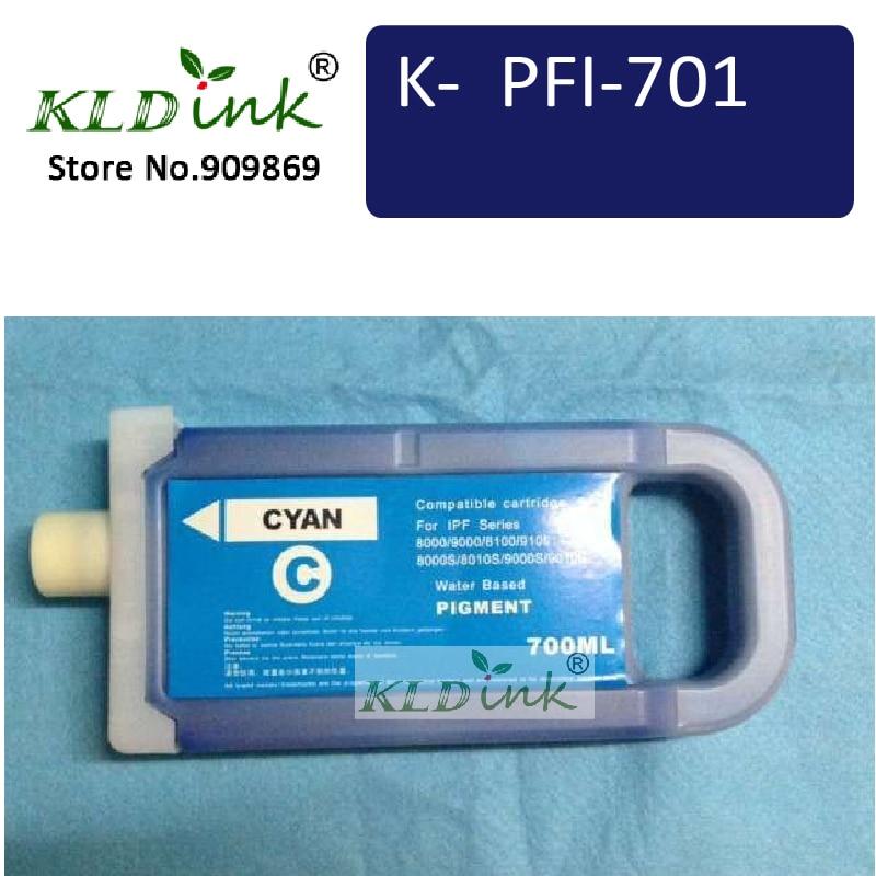KLDINK - PFI-701C Cyan Ink Cartridge ( PFI-701  1966B003AA   Ink) Compatible with imagePROGRAF iPF8100 / iPF9000S printer<br><br>Aliexpress