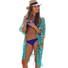 2017 Summer Women Fashion Beach Cover Up Ladies Sexy Swimsuit Bathing Suit Cover Ups Cape Kaftan Kimono Knits Beach Wear Shirt(China)