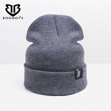 BOOMOVE New Winter Hat For Man Woman Skullies Caps For Women Knit Hat Unisex Headwear Female Cap Women Men Skullies Beanies Hat(China)