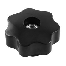 8mm Diameter Thread Hole Black Star Head Clamping Knob Replacement