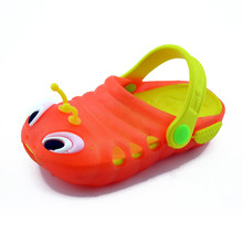 Buy Kids Clogs 2018 Summer Children's Cartoon Shoes Hole Garden Clogs Caterpillars Slippers Beach Sandals Baby Girls Boys Slides for $7.92 in AliExpress store