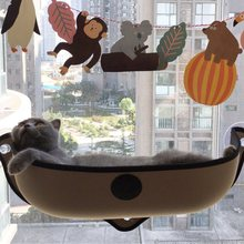 Window Door Mounted EVA Pet Cat Bed Perch Half Pod Khaki Kitten Pad Suction Cup Sleep Relax Hammock Home Kitten Cat Product(China)