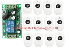 DC 12V 10 A 1 Channel RF Wireless Remote Control 1 Receiver & 12 Transmitter learning code