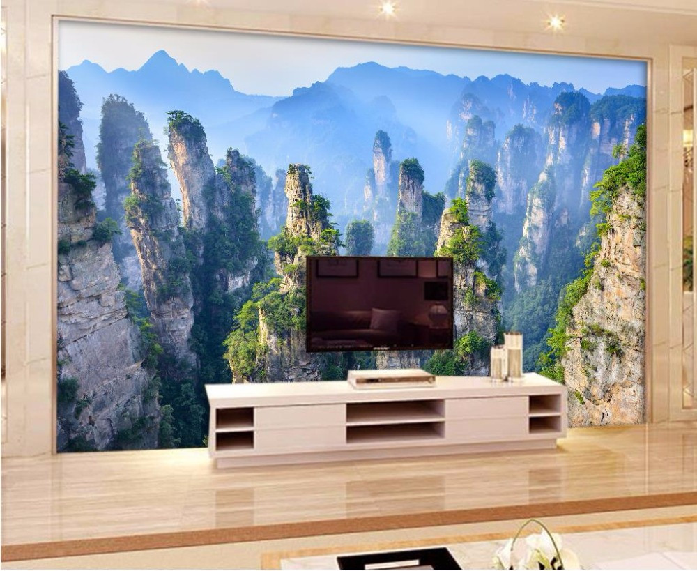 landscape 3d wallpaper murals mountain peak custom 3d wallpaper Living room bedroom <br>