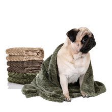 Flannel Absorbent Pet Supplies Towel Dog Bath Towels Blanket Carpet Quick Dry Towel Bathrobes For Puppy Cat Coffee Beige Green(China)