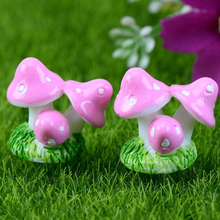 Mini Small Mushroom Small Ornaments Three Mushrooms Fairy Decor Home Decor Miniature Gardening Accessories