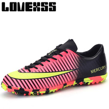 LOVEXSS Soccer Cleats Shoes For Men Turf Football Boots Mens Sneakers Light Weight Breathable Outdoor Athletic Sport Shoes Brand(China)