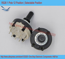 5pcs/lot RS26 1P12T Band Switch Band Channel Rotary Selector Switch 1 Pole 12 Position Selectable Position(China)