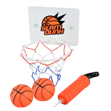 Dewel Funny Mini Portable BasketBall Hoop Toy Toilet Bathroom Desk Home Basketball Fans Game Set For NBA Fans Kids Baby Adults (China)