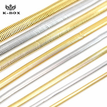 "Mens Gold/Silver Plated Flexible Flat Herringbone Snake Dome Necklace Chain Hip Hop 4mm-10mm  24"" 27.5"" 30"""