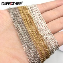 GUFEATHER Diy chain/jewelry accessories/jewelry findings/diy accessories/jewelry making/hand made