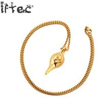 Lamp Of Aladdin Pendant Necklace Boyfriend Gift Gold Color Aladdin's Lamp Charm Magic Lamp Genie Pendant Hiphop Jewelry(China)