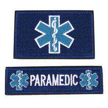 2Pcs Embroidery Patch Emergency Medical Technician PARAMEDIC EMT Embroidered Patches Badges Military Armband Badge Stickers