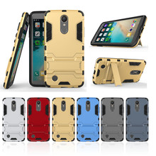 Buy Iron Man Heavy Duty Armor Case Shockproof Cover LG K8, 2017 Hybrid Dual Layer PC+ TPU Cover Kickstand Holder for $3.11 in AliExpress store