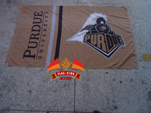 Purdue University flag 90x150cm ,flag king Brand,100% Polyester banner, custom any size company advertisement flags(China)